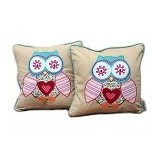 HOBIHOUSE Cushion Owl - Bantal Dekorasi