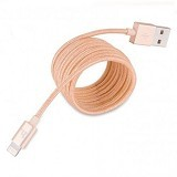 HOCO Lightning USB Braided Charging Cable [UPL05] - Gold (Merchant) - Cable / Connector Usb