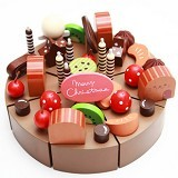 HOKIDONG Chocolate Wooden Cake [WD-CHOCO-WY] - Mainan Masak Masakan / Kitchen Toys