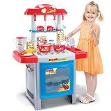 HOKIDONG Kitchen Set [KS-PM-WY] - Red - Mainan Masak Masakan / Kitchen Toys