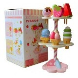 HOKIDONG Wooden Dessert Tower [IC-TWR-WY] - Mainan Masak Masakan / Kitchen Toys