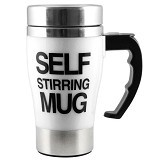 HOME KLIK Self Stirring Mug Tinggi - White - Gelas