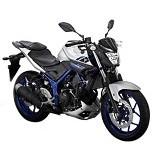 YAMAHA MT 25 Silver Blue Sepeda Motor (Merchant) - Motor Sport