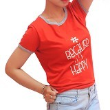 HONEYDEW Because Im Happy Tshirt Size M - Kaos Wanita
