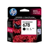 HP Black Ink Cartridge 678 [CZ107AA] - Tinta Printer Hp