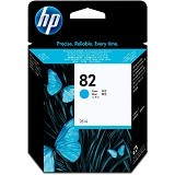 HP Cyan Ink Cartridge 82 [C4911A] - Tinta Printer Wide Format HP