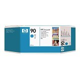 HP Cyan Ink Cartridge 90 [C5061A] - Tinta Printer Wide Format HP
