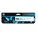 HP Cyan Original Ink Cartridge 980 [D8J07A] - Tinta Printer Wide Format HP