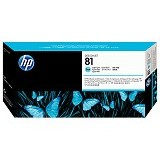 HP Light Cyan Dye Printhead and Printhead Cleaner 81 [C4954A] - Tinta Cartridge Wide Format Hp