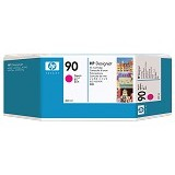 HP Magenta Ink Cartridge 90 [C5063A] - Tinta Printer Wide Format HP