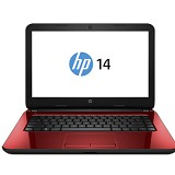 HP Notebook 14-r201TX Non Windows - Red