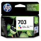 HP Tri-Color Ink Cartridge 703 [CD888AA] (Merchant) - Tinta Printer Hp