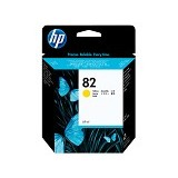 HP Yellow Ink Cartridge 82 [C4913A] - Tinta Printer Wide Format HP