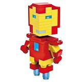 HSANHE Action Figure Cube Nano Micro World Series Iron Man [6302] - Building Set Movie