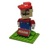 HSANHE Action Figure Lego Cube Nano Micro World Series Mario Bros [6334] - Building Set Movie