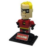 HSANHE Action Figure Lego Cube Nano Micro World Series Mr.Incredible [6340] - Building Set Movie