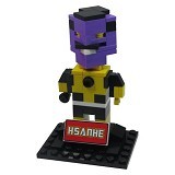 HSANHE Action Figure Lego Cube Nano Micro World Series Sinestro [6321] - Building Set Movie