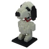 HSANHE Action Figure Nano Blocks World Series Snoopy [114] - Building Set Movie