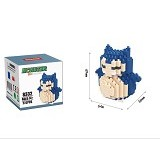 HSANHE Bricks Hsanhe Snorlax Pokemon [8332] - Building Set Education