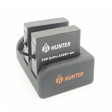 HUNTER Charger 3 Slot for GoPro Hero 3/4 - Camcorder Power Adapter and Charger