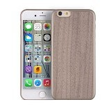 "I-SMILE Wooden Texture Case For Apple iPhone 6 6S 4.7"" - Dark Brown - Casing Handphone / Case"