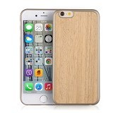 "I-SMILE Wooden Texture Case For Apple iPhone 6 6S 4.7"" - Light Brown - Casing Handphone / Case"