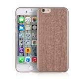 "I-SMILE Wooden Texture Case For Apple iPhone 6 6S Plus 5.5"" - Dark Brown - Casing Handphone / Case"