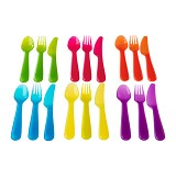 IKEA PRODUCTS Kalas 18-piece Cutlery Set - Assorted colours (V) - Peralatan Makan Set