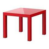 IKEA PRODUCTS Lack Side Table High Gloss - Red (V) - Meja Ruang Tamu