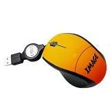 IMAGE Retractable Mouse A141 - Orange - Mouse Mobile