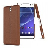 IMAK Ruiyi Leather Back Case Sony Xperia C5 Ultra - Brown - Casing Handphone / Case