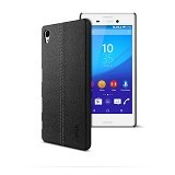 IMAK Ruiyi Leather Back Case Sony Xperia Z5 - Black - Casing Handphone / Case