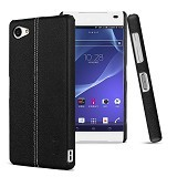 IMAK Ruiyi Leather Back Case Sony Xperia Z5 Compact - Black - Casing Handphone / Case