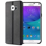 IMAK Vega Leather Back Case Samsung Galaxy Note 5 - Black - Casing Handphone / Case
