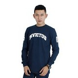 INTOPIC College LSV Size L - Navy - Kaos Pria