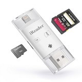 IREADER USB Lightning Port Micro USB USB 3.0 Compatible for iPhone/iPad/Android (Merchant) - Cable / Connector USB