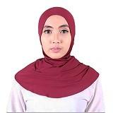 ISKANDAR Ciput Retsleting [ANT-JERM] - Maroon - Hijab