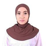 ISKANDAR Ciput Retsleting [CPT-CKLT] - Coklat - Hijab
