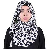 ISKANDAR Segi 4 Jumbo Bunga [COS4-JMB-FLOW-BU] - Biru - Hijab