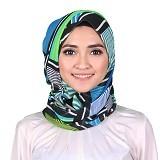 ISKANDAR Shawl Abstrak [CER-SLRKCL-HJU] - Hijau - Hijab