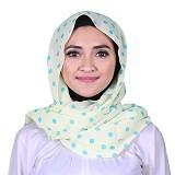ISKANDAR Shawl Polkadot [CER-POLK-HJU] - Hijau - Hijab