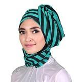 ISKANDAR Shawl Salur [CER-SLR-HJU] - Hijau - Hijab