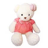 ISTANA KADO ONLINE Boneka Beruang Teddy Bear Dress Summer - Boneka Binatang