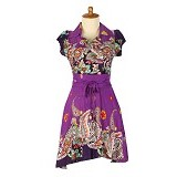 IYESH Dress Claudia [IYNN1127-1127] - Purple (Merchant) - Midi Dress Wanita