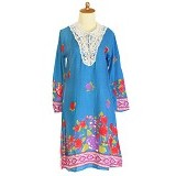 IYESH Dress [HEMG848A - 8848A] - Blue (Merchant) - Midi Dress Wanita