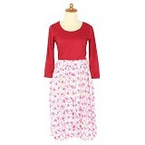 IYESH Dress [HENN0301 - 0301] - Red (Merchant) - Midi Dress Wanita
