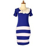 IYESH Dress Wanita [HEBO1237-1237] - Blue (Merchant) - Mini Dress Wanita