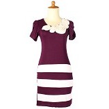 IYESH Dress Wanita [HEBO1237-1237] - Purple (Merchant) - Mini Dress Wanita