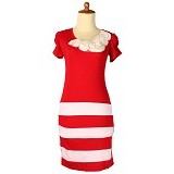 IYESH Dress Wanita [HEBO1237-1237] - Red (Merchant) - Mini Dress Wanita