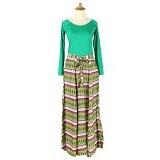 IYESH Maxi Baleto Tribal [HEMIM349 - M349] - Green (Merchant) - Gamis Wanita